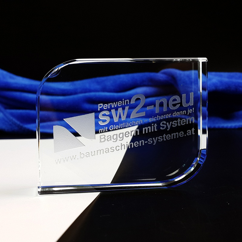 Fashion Design Rectangular Cutaway Crystal Cube Glass Paperweight For Office Decoration