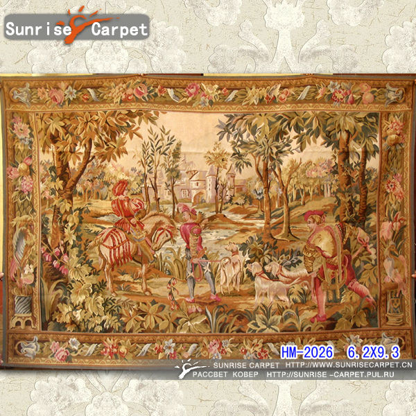 Aubusson Lighted Wall Hanging Tapestry