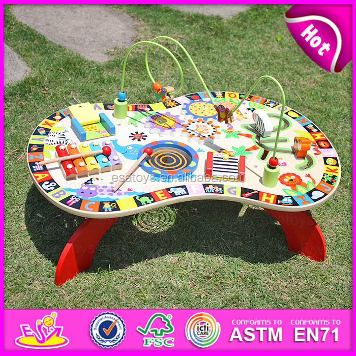 2017 wholesale wooden magnetic toy game for <strong>kids</strong>, Intelligent wooden children beads toy W12D022