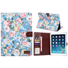 Wallet hard back flower cloth leather case for iPad air 2 with photo frame