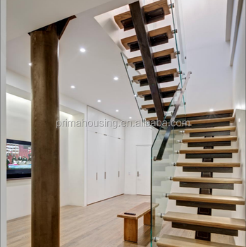 Prefab Straight Stairs Design Wood Staircase Model