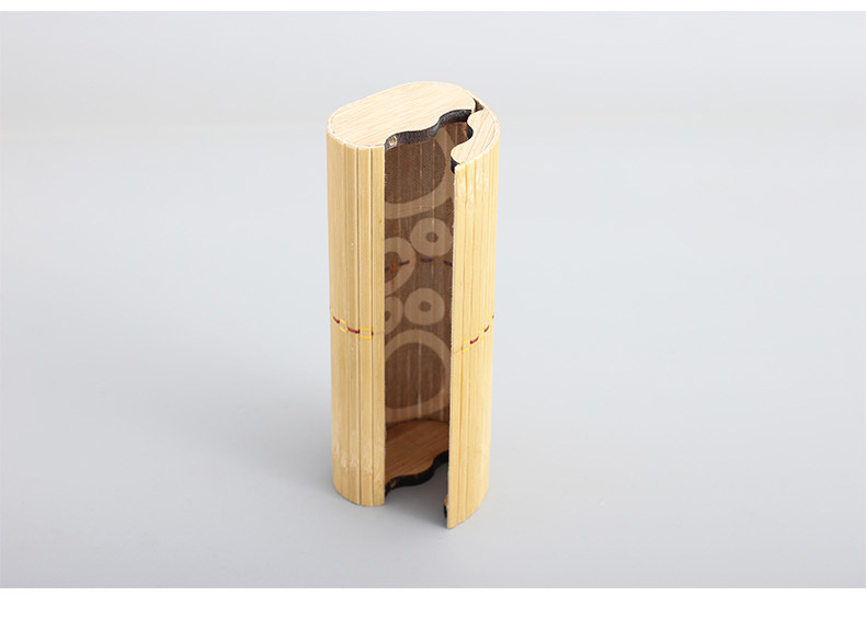 Custom Bamboo Wooden Sun Glasses Box Oval Tube Bamboo Sunglasses Case
