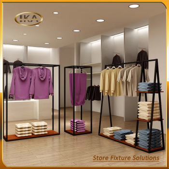 Metal Hanging ZARA Women Clothes Display Rack For Garment Shop Furniture