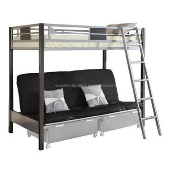 Cheap Modern Kids Furniture Two Layer Bed Tier Bunk Futon