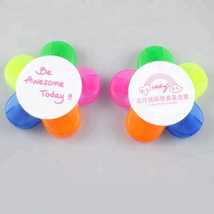 Customized flower shape highlighter for promotion