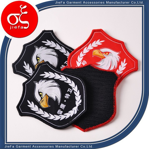 Wholesale Low Price Woven Garment Badge with magnetic back