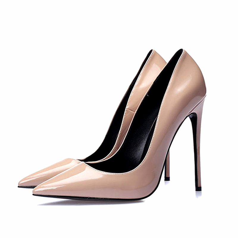 77f494a2f9 Beautiful Elegant Ladies Pointed Toes shiny leather 13cm office ladies high  heel shoes