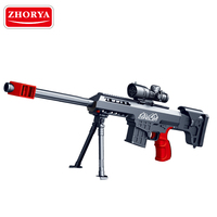 Zhorya kids battery operated plastic air toy soft crystal water bullet gun for sniper fan