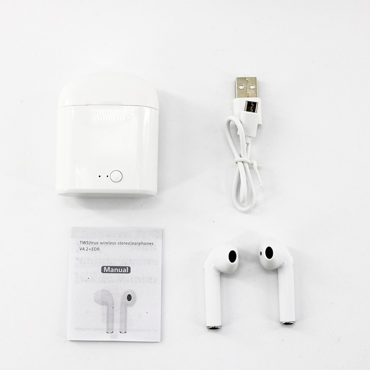 Hot Sale i7s TWS Mini Wireless Bluetooth Earphone Stereo Earbud Headset With Charging Box Mic For All Smart phone