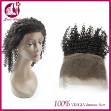 New Arrival Brazilian Virgin Hair 360 Lace Frontal Curly Customized Lace Frontal with Baby Hair Pieces for Weddings 22.5x4x2inch