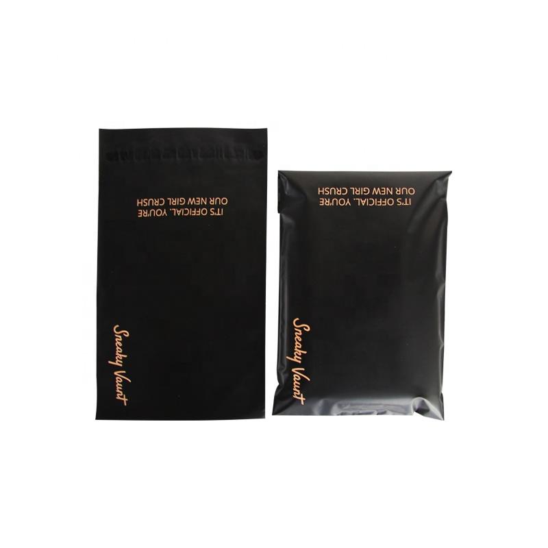カスタムデザインコーンスターチ宅配便生分解性コーンスターチポリメーラーメーリング包装黒プラスチック服送料バッグ
