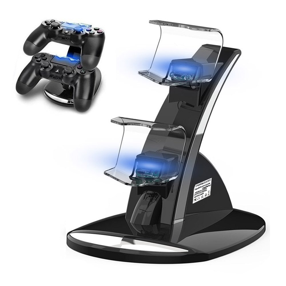 PS4 Controller Charger, Ponkor PS4 Controller Dock, Dual USB Charging Station for Sony PS4/PS4 Slim/PS4 Pro Controller/DualShock 4