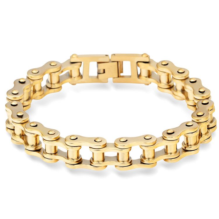 Zhongzhe <strong>Jewelry</strong> 316L Stainless Steel Bracelet Mens Biker Gold Motorcycle Chain Bracelet, OEM/ODM Accept