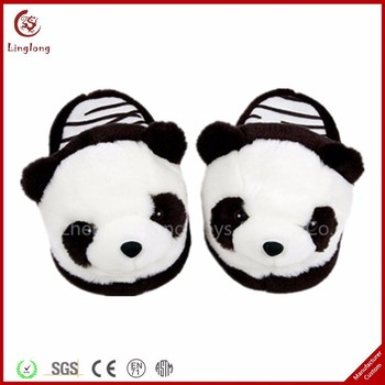 Lucu Plush Panda Sandal Mules Lembut Stuffed Kartun Panda Kartun
