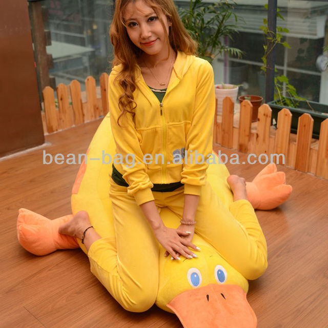 Cartoon Figure Little Cute Yellow Duck Beanbag Sofa Chair