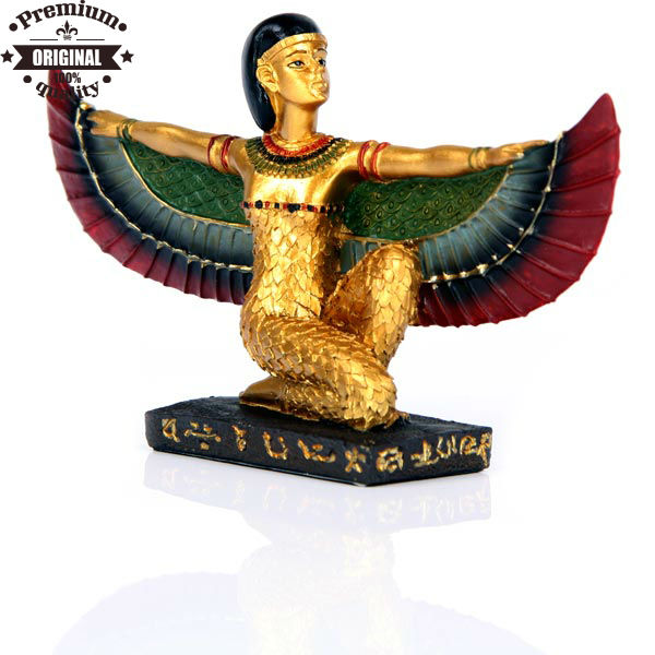 resin ancient Egyptian Craft Golden Isis Wings Stretched