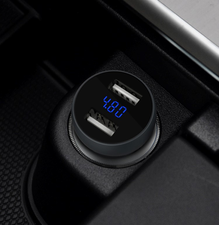 ev charging stations usb charger battery car 5v dual port usb car socket battery car 4.8a usb charger led digital charger