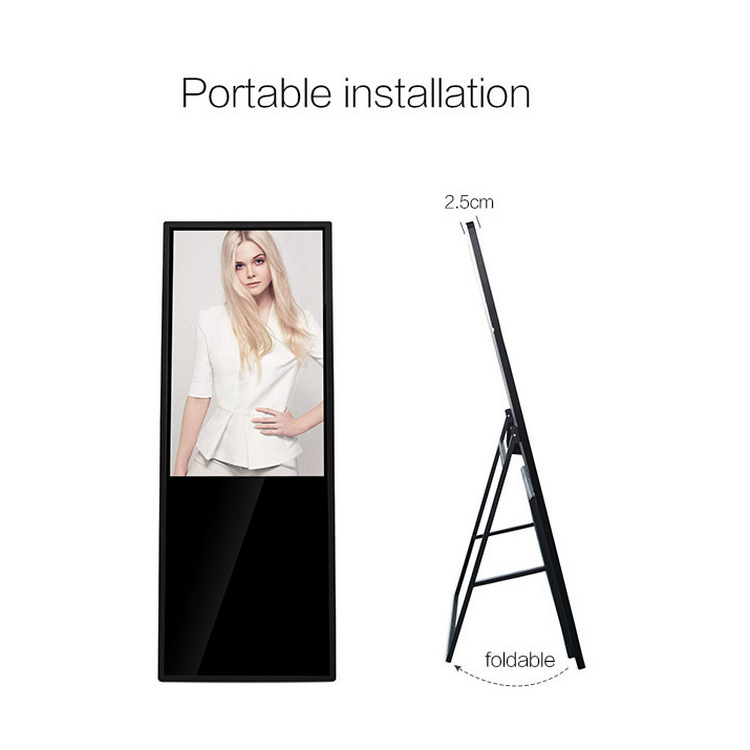 43-inch LCD digital signage Shopping center floor standing portable 1080P HD Advertising kiosk
