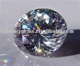 facet dazzling cubic zirconia round shaped elegant gemstone