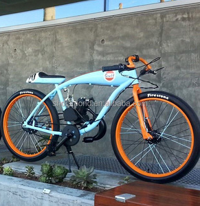retro beach cruiser 48cc MOTORIZED Bicycle/gulf racing tribute petrol BIKE/68cc board tracker bike/80cc cafe racer custom bike