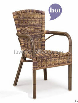 Hot Sale Metal Wicker Chair Coffee Shop Use Rattan Chair Buy