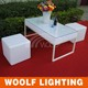 Illuminated Led Cube Chair Led Light up Outdoor Furniture plastic cube