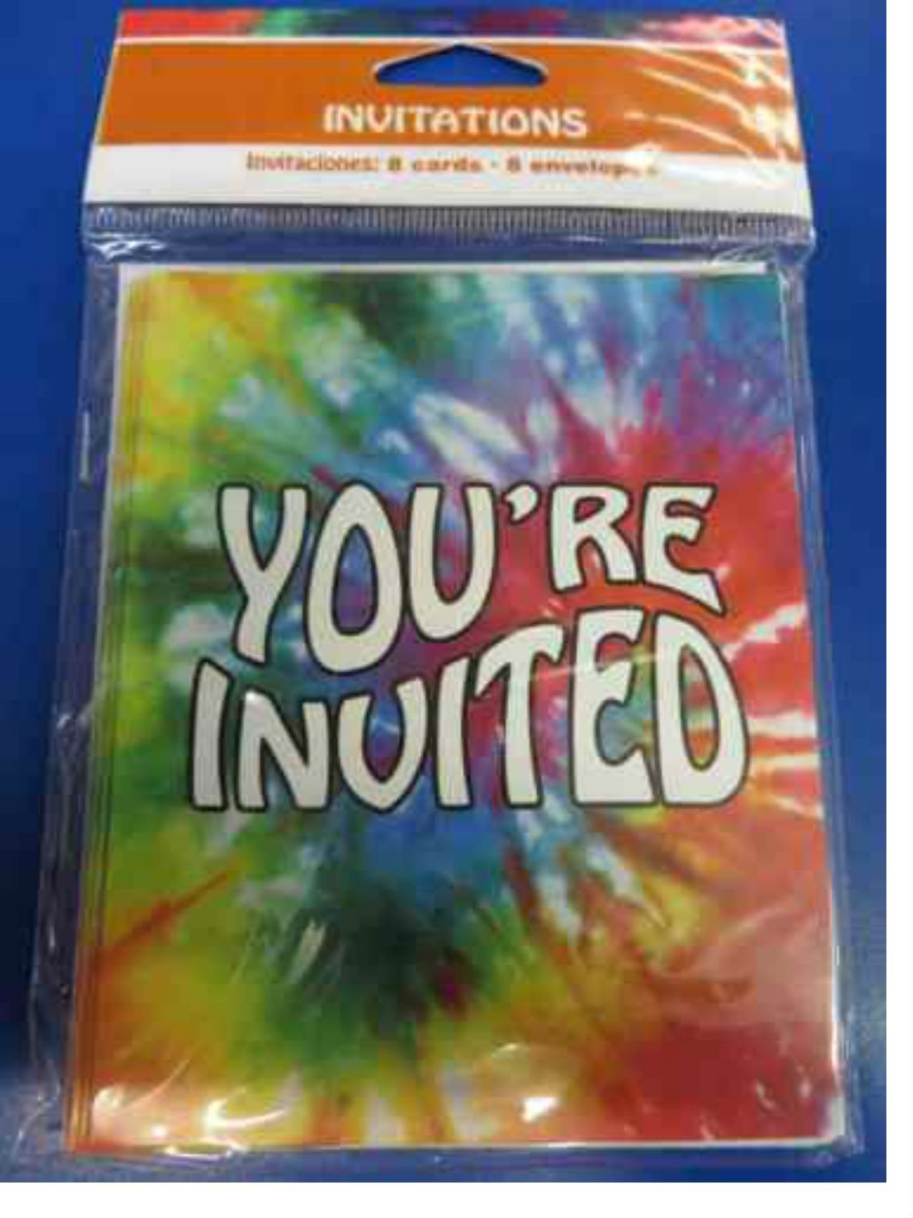 tie dye party invitations