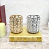 candle holder wedding centerpiece metal lantern crystal candlestick for wedding decoration