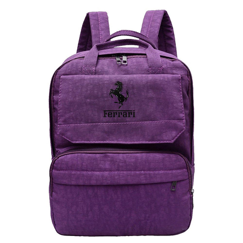Get Quotations · Hyseney Custom Ferrari F1 Logo Women s Travel Bags Leisure  Backpack 6d1c62fec29fe