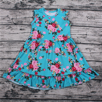 Sue Lucky Flower newborn baby girl names girls baby frock design picture for baby girl Summer Dress