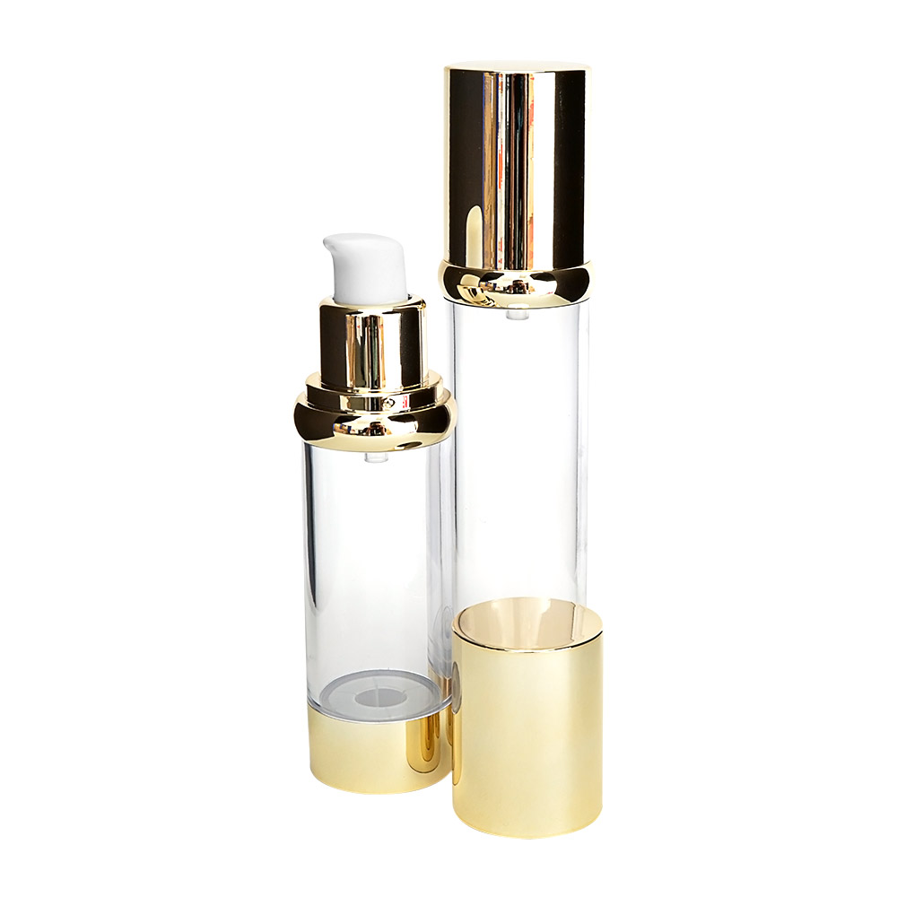 small cosmetic container with aluminium base 5ml airless bottle