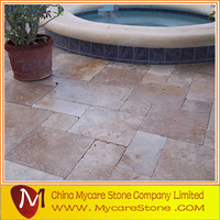 travertine paver and pool coping