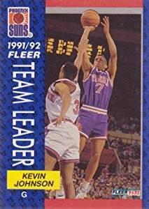Kevin Johnson Team Leader 1991 Fleer NBA Basketball Card #392 Phoenix Suns