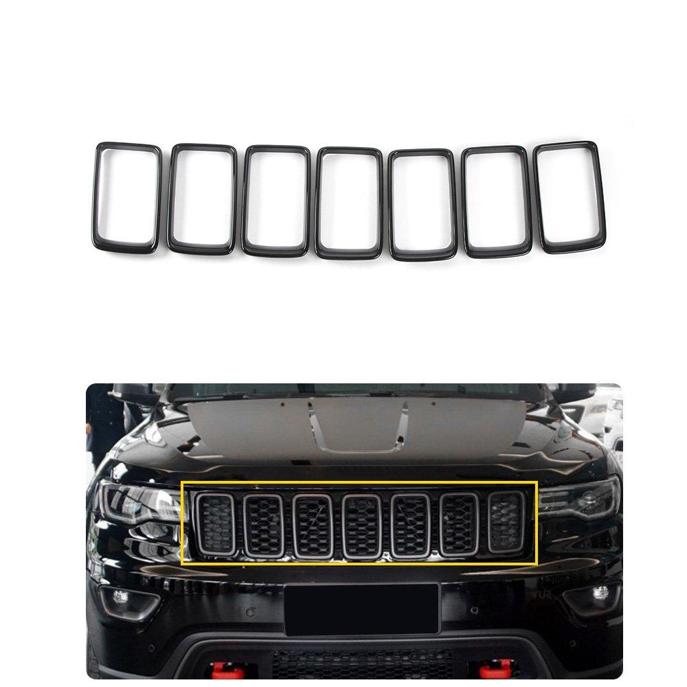 IBACP 2007-2016 Jeep Wrangler JK Angry Bird Style Matte Black Headlight Cover Bezel Front Light Headlight Cover