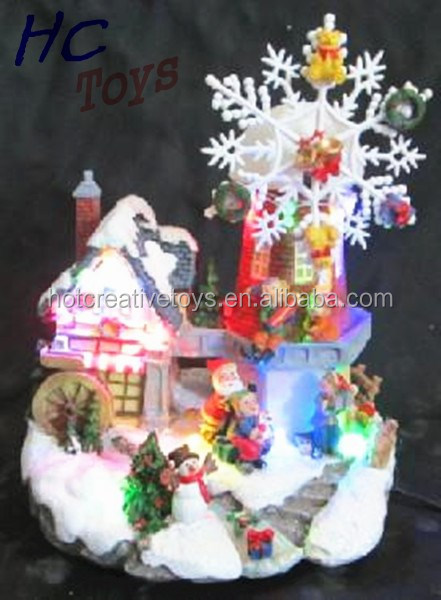 Poly Castle, Christmas Building Souvenir, Resin Scaled House
