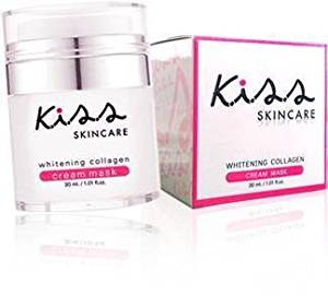 K.i.s.s Whitening Collagen Cream Mask with Facial Cream Mask. Enriched with Collagen Wholesome. Abu Alpha Carotene. Vitamin C Concentration. And Natural Extracts That Nourish the Skin.