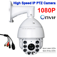 CCTV Security 2.0MP 2 Megapixels Auto Tracking HD IP 1080P Network High Speed PTZ Camera 200X 20X ZOOM Laser IR 300M W/Audio