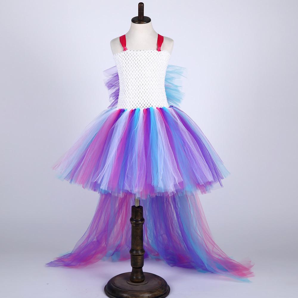 Tren cola Cosplay unicornio vestido de tutú Niños Rainbow pony ...