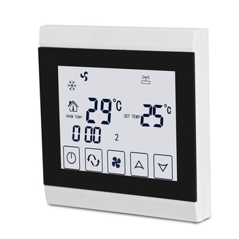 Central Air Conditioner Thermostat With Easy Read Large LCD Screen;Electronic Room Cooling FCU Digital Thermostat