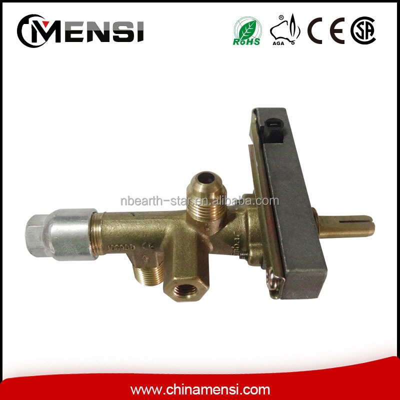 Gas control safety valve for stove cooktop