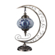 ZIHAO ZHYL-180 Moon Shaped Mosaic Glass Turkish Table Lamps