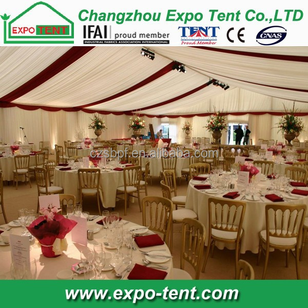 12x30m wedding tent decoration for 200 guests