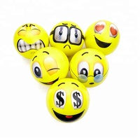 Wholesale Return Squeeze Emotional Toy Balls Stress Relax Balls Funny PU Emoji Ball With Custom Logo Printed