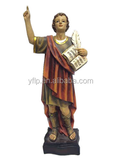 2016 Factory poly resin messenger statue soldier champion with book feather Jesus figurine
