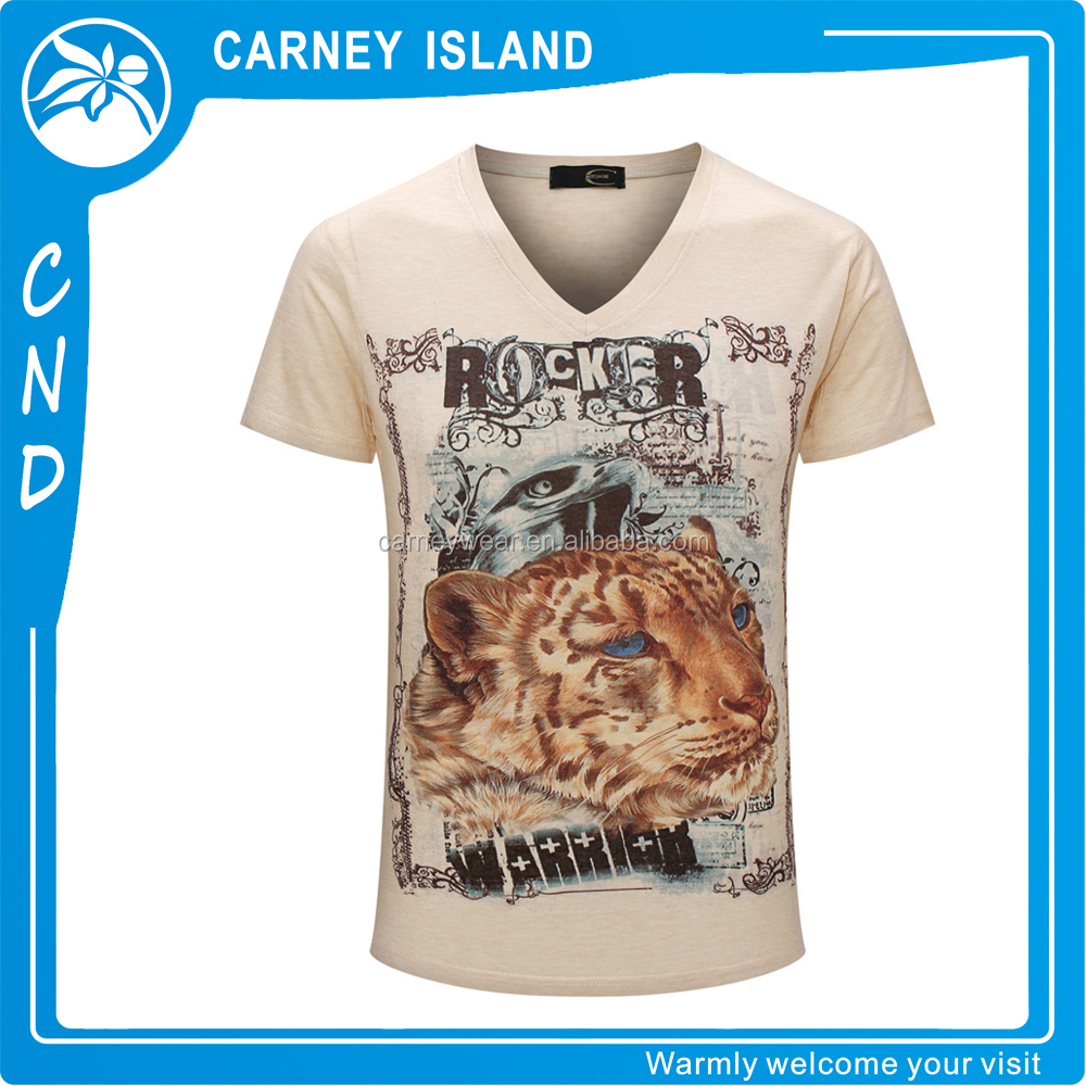 wholesale animal t-shirt tiger men new style print t shirts
