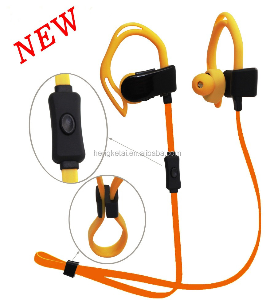 Hear rate monitoring sports sweatproof wireles bluetooth earphones V4.2 with CE,ROHs for wholesales from SMETA factory