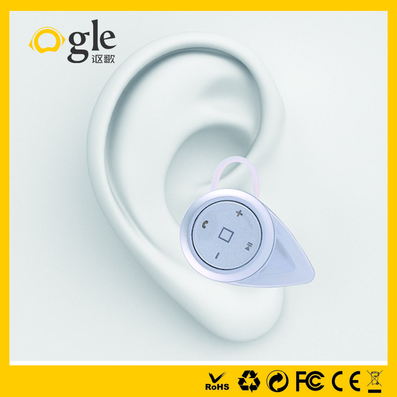 2016 Factory Price best Ear Hook wireless hidden invisible bluetooth earphone mini in ear earphone