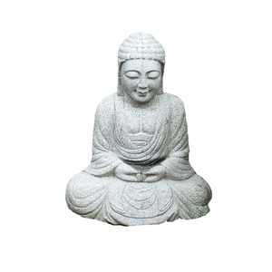 Granite Stone Crafts Sitting Buddha Large Statue for Sale