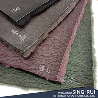 Hot-selling 100% Polyester Fleece Bonded Tricot Faux Fur Suede Leather Fabric