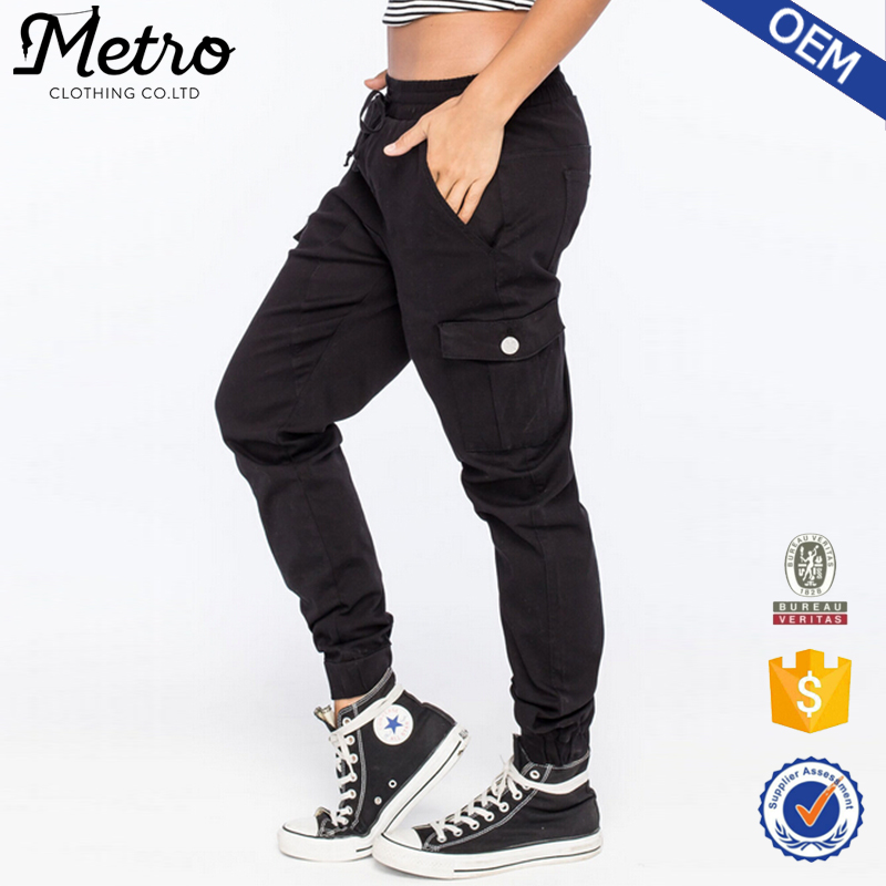 c4a6d44bc Fashion Women Twill Jogger Pants 98% Cotton 2% Spandex Joggers - Buy ...